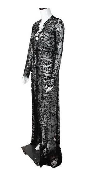 Vestido Renda Less Robe Gestante Matenal Ensaio Fotográfico