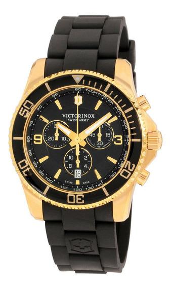Relógio Masculino Victorinox 249099 Pulseira De Silicone