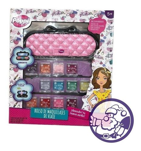 Set De Maquillaje Poppi Para Niñas Bolso