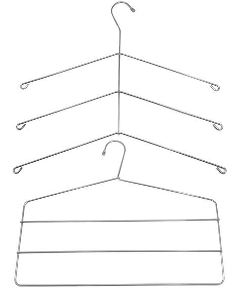 Kit 10 Cabides Triplos Para Camisas 10 Cabides Triplo Calças