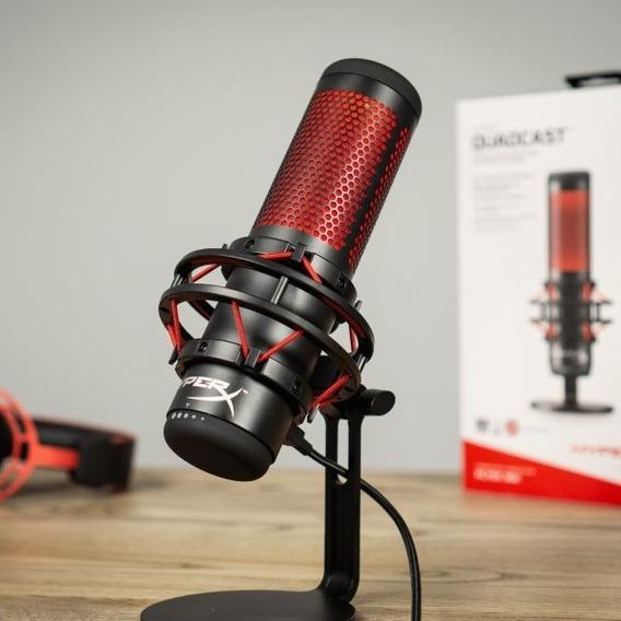 Microfone Hyperx Quadcast Antivibração Led