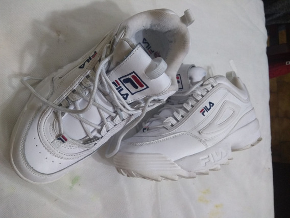 Zapatillas Fila Disruptor Ii Premium. Blanca. Mujer. T43