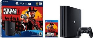Ps4 Pro 1tb Colección Red Dead Redemption 2 Nuevo Sellado
