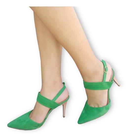 Scarpin Salto Médio, Verde Vermelho Preto Ou Nude Forma Peq.