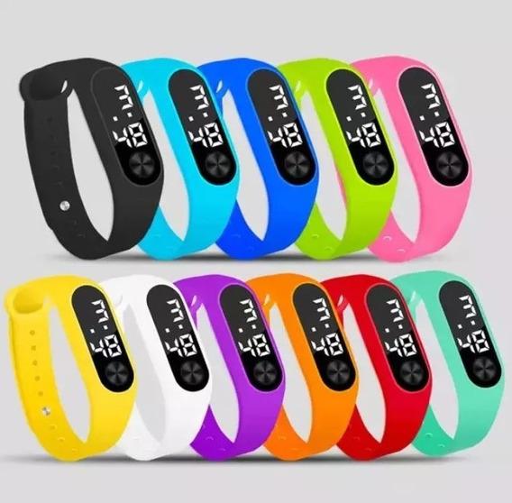 Kit 20 Relógio Digital Esporte Bracelete Led Adulto Infantil