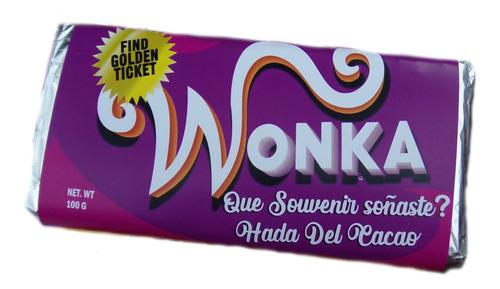 Imagen 1 de 10 de 20 Chocolate Wonka Personalizado Souvenir Cumpleaños Regalo