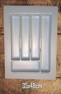 Cubiertero Organizador Plástico Gris Para Cajón 350 X 480