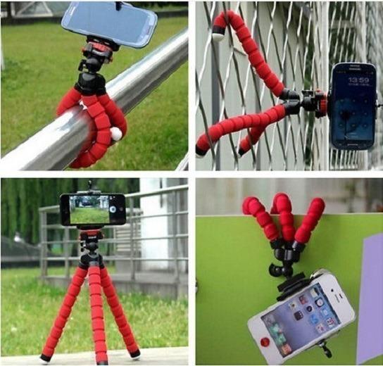 Mini Tripé Flexível Action Cam Câmera iPhone Go Pro Youtuber