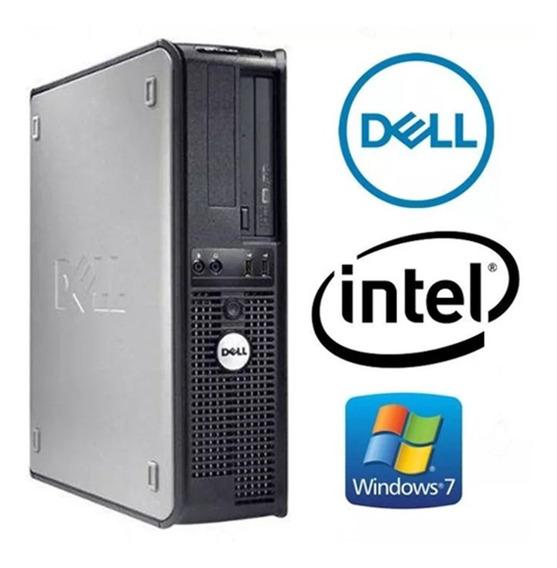 Cpu Dell Core 2 Duo 2gb Hd 250gb Dvd Wifi + Frete Grátis