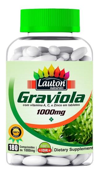 Graviola 1000mg 180 Capsulas - Lauton Nutrition