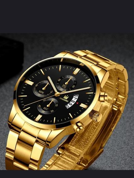 Relógio Luxury Stainless Casual Entrega: 30 A 60 Dias