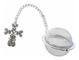 Ganz Christian Cross Charm Tea Infuser Ball - By