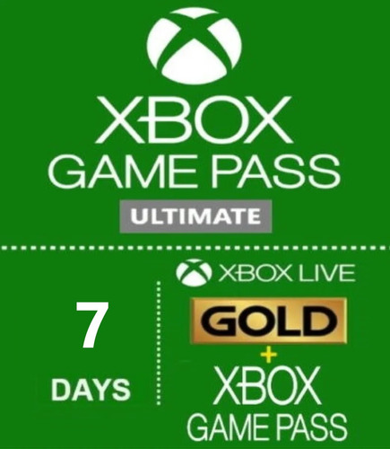 Xbox Live Gold 7 Dias + Game Pass - Envío Instantaneo 24/7.