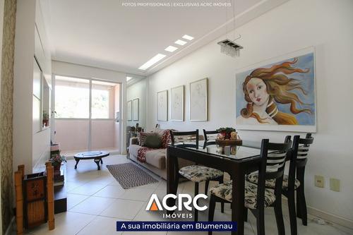 Acrc Imóveis - Apartamento Semimobiliado Com Sacada E Churrasqueira Para Venda No Bairro Escola Agrícola - Ap04374 - 69396685