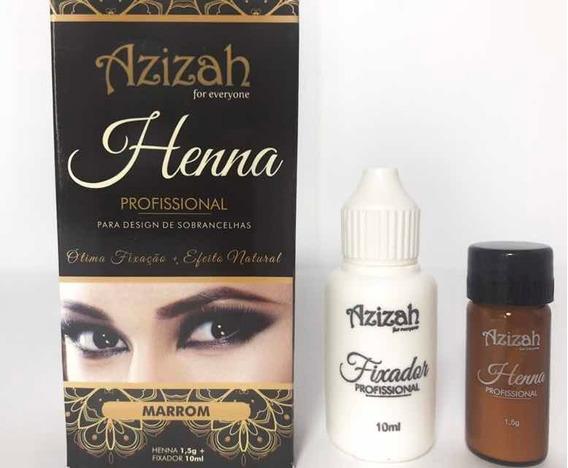 Henna Azizah Para Cejas/pecas Brasil Color A Ele