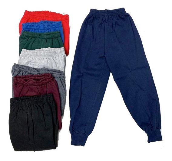 Pantalón Jogging C/ Puño 4 A 16 Doble Friza Escolar Colores