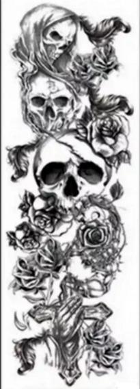 Tatuagem Temporária Gigante Braço Inteiro Fake Tattoo 3021