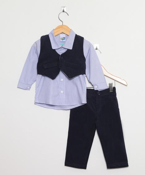 Conjunto Pingo Doce Para Bebê Menino Com Colete
