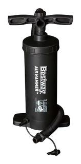 Inflador Manual Bestway Air Hammer 3 Bico P/ Piscina Colchão