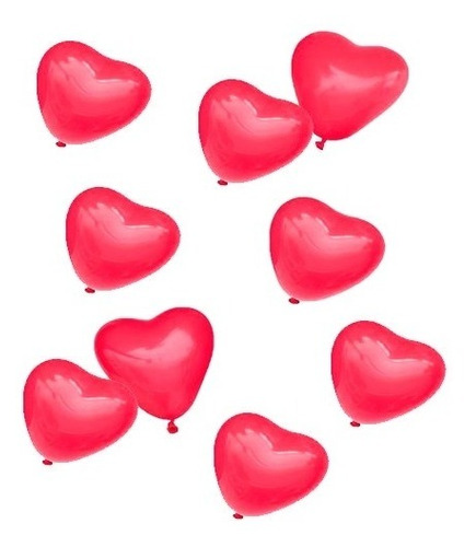 Imagen 1 de 3 de Globos Mini Corazon 5  Rojo X 25 Uni San Valentin Cotillon