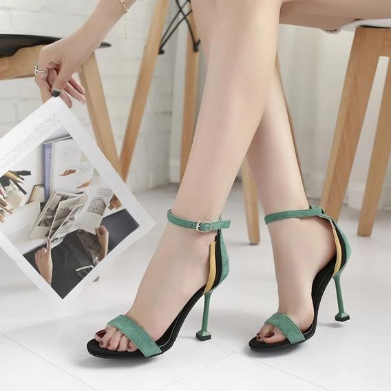 Sandália Salto Confortável Importada Ref2223