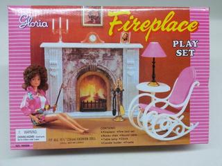 Gloria Fireplace Play Set Para Muñecas Barbie