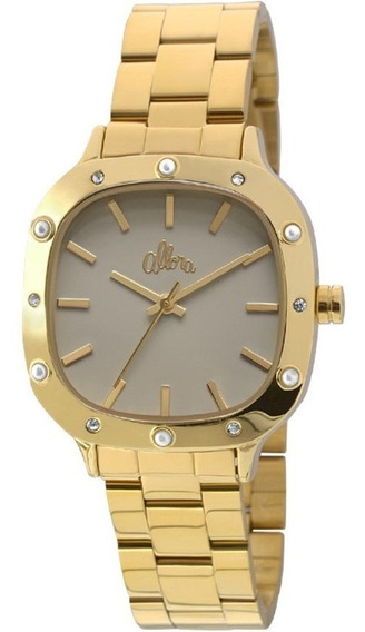 Relógio Feminino Allora Flor Da Pele Alpc21ah/4c - Dourado