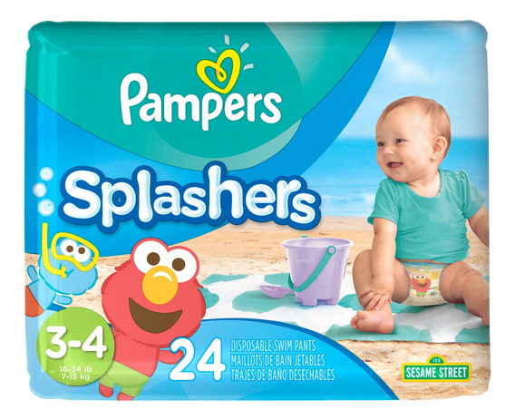 Pañales Pampers Splashers - Ver Talles