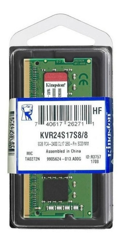 Memoria Ram Original Kingston 8gb Ddr4 2400mhz Laptop Y Mac