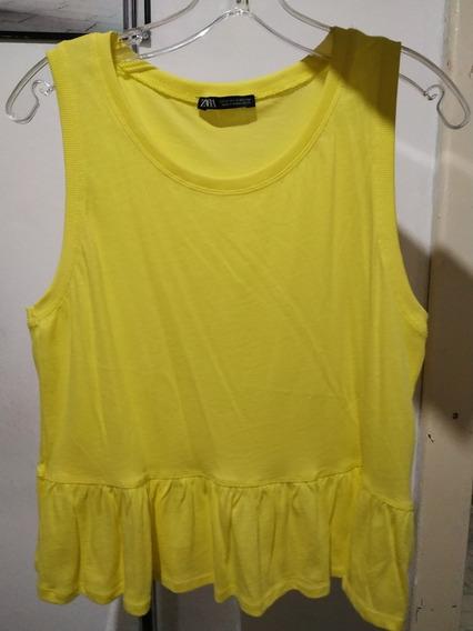 Musculosa Amarilla Zara