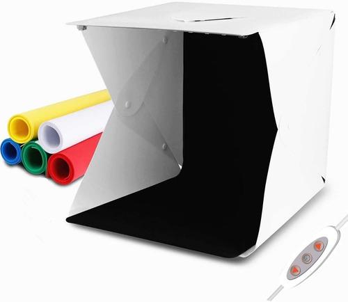 Imagen 1 de 9 de 40cm Estudio Fotográfico Portatil Caja Luz Regulable 70 Led