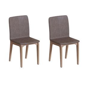 Conjunto Com 6 Cadeiras Brigatto Marina Avelã E Marrom