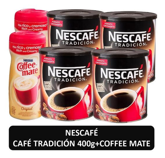 Cafe Nescafe Tradicion 400g Y Coffee Mate Original Pack