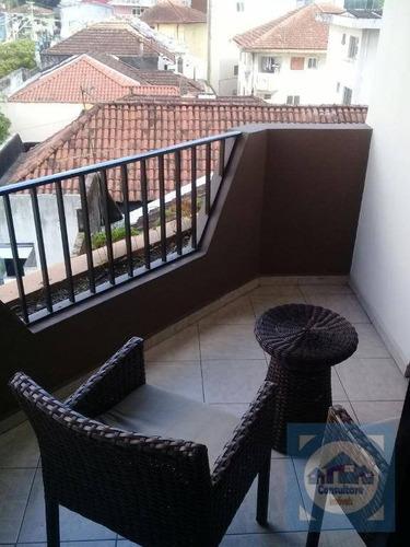 Flat  1 Dormitório À Venda, 50 M² Por R$ 320.000 - Gonzaga - Santos/sp - Fl0062