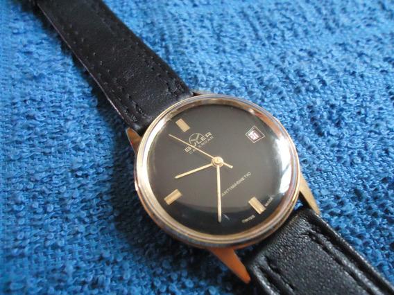 Buler Reloj Suizo Vintage Negro