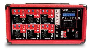 Cabezal Amplificado Novik Nvk-6400bt 6ch Usb Bluetooth