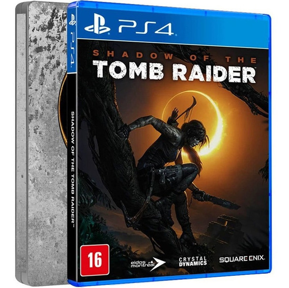 Shadow Of The Tomb Raider Stellbook Ps4 Midia Fisica Dublado