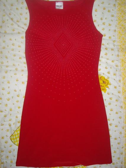 Vestido Dinamic Talla Mediana Rojo Con Piedreria Importado