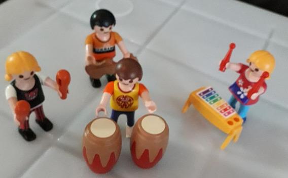 Playmobil Set Banda De Música Com Bonecos E Instrumentos