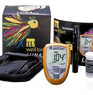 Monitor Luna Duo Wellion +20 Tiras Teste Colesterol Promo
