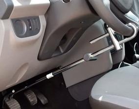 Trava Segurança Anti Furto Carro Volante Pedal Cromada