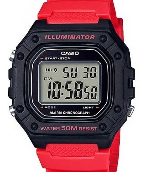 Relógio Casio Masculino Digital - W-218h-4b2vdf-br