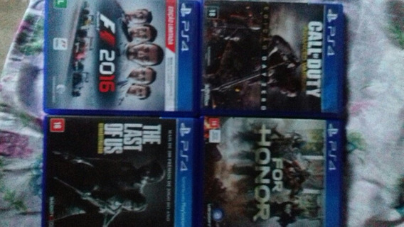 The Last Of Us,call Of Duaty,for Honor E F1 2016, Para Ps4