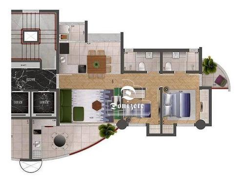 Imagem 1 de 3 de Apartamento Com 2 Dormitórios À Venda, 85 M² - Jardim - Santo André/sp - Ap17289