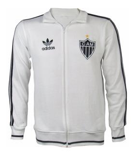 Agasalho Atlético Mineiro Branco Retrô Com Ziper