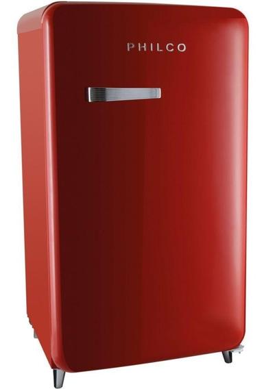 Frigobar Philco Vintage Pfg120 121 Litros 1 Porta Vermelho