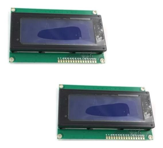 Kti 2 Display Lcd 20x4 Back Azul P/ Pic Arduíno
