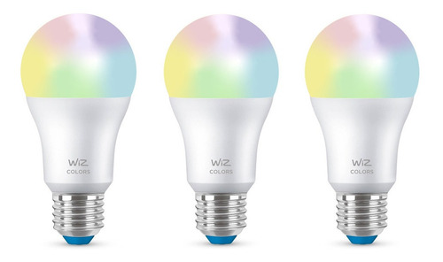 Ampolleta Led Bulb Wiz Wifi Color 9w E27 X3 Unidades