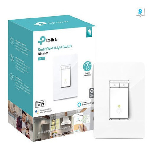 Imagen 1 de 6 de Interruptor Inteligente Dimmer Kasa Smart Hs220 Tp-link