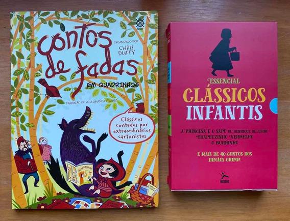 Livro Contos De Fadas Em Quadrinhos E Box Clássicos Unfantis